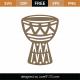 Djembe African Drum SVG Cut File 9316