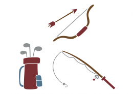 Fishing and Golf SVG Cut File 9402