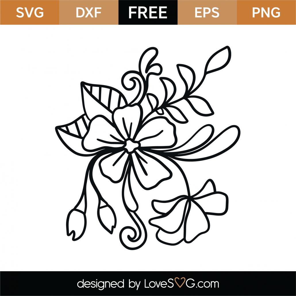 Floral Element SVG Cut File 9356
