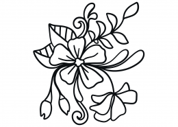 Floral Element SVG Cut File 9356