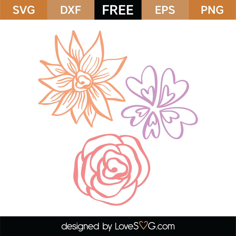 Download Free Flowers SVG Cut File   Lovesvg.com