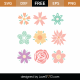 Flowers SVG Cut File 9335