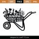 Garden Trolley Word Art SVG Cut File 9342