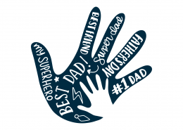 Hand And Words For Dad SVG Cut File 9394