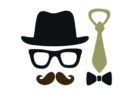 Hat and Tie SVG Cut File 9395