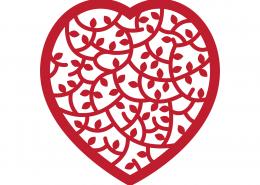 Heart Mandala SVG Cut File 9283