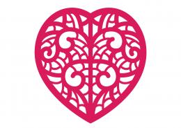 Heart Mandala SVG Cut File 9294