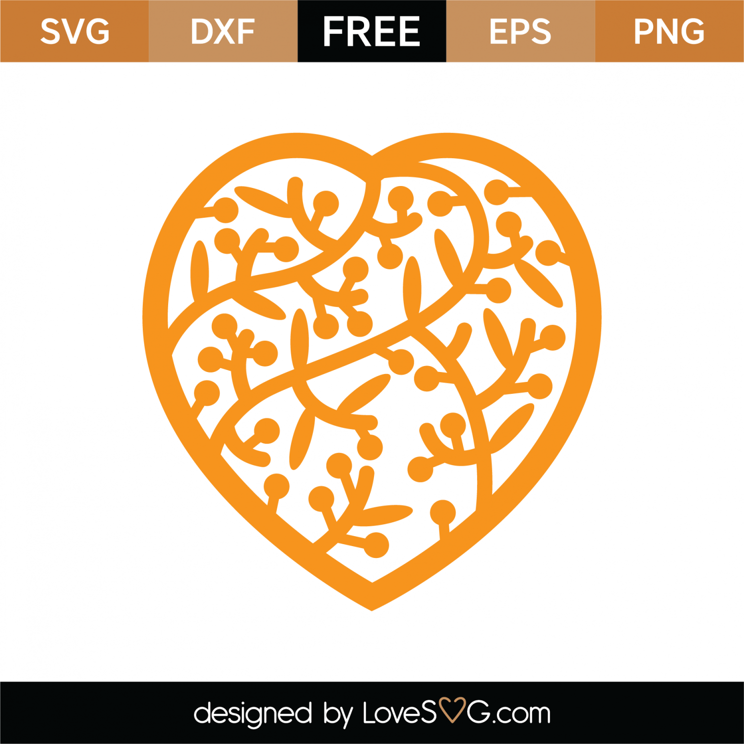 Free Heart Mandala SVG Cut File | Lovesvg com