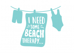 I Need Some Beach Therapy SVG Cut File 9425