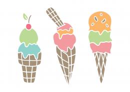 Ice Creams SVG Cut File 9410