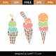 Ice Creams SVG Cut File 9410