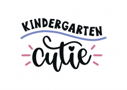 Kindergarten Cutie SVG Cut File 9260