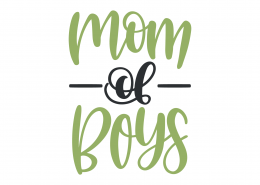 Mom Of Boys SVG Cut File 9399