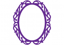 Monogram Frame SVG Cut File 9332
