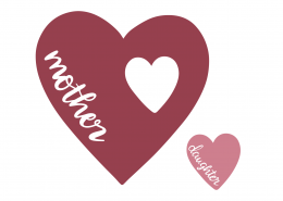 Mother Daughter Heart SVG Cut File 9405