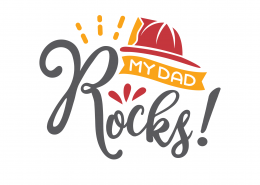 My Dad Rocks SVG Cut File 9285