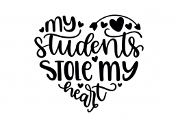 My Students Stole My Heart SVG Cut File 9266