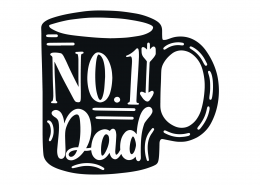 No. 1 Dad SVG Cut File 9393