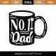 No. 1 Dad SVG Cut File 9393