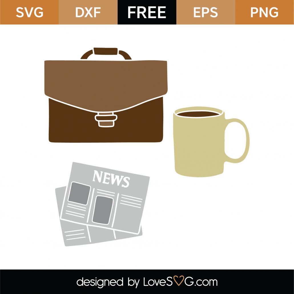 Office Items SVG Cut File 9404