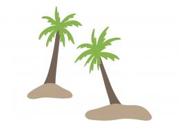 Palm Trees SVG Cut File 9431