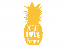 Peace Love Pineapple SVG Cut File 9433