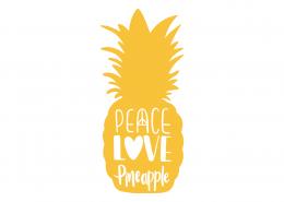 Peace Love Pineapple SVG Cut File 9433