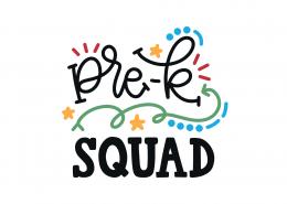 Pre-K Squad SVG Cut File 9267