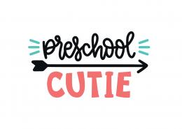 Preschool Cutie SVG Cut File 9263