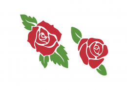 Roses SVG Cut File 9371