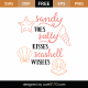Sandy Toes Salty Kisses SVG Cut File 9438