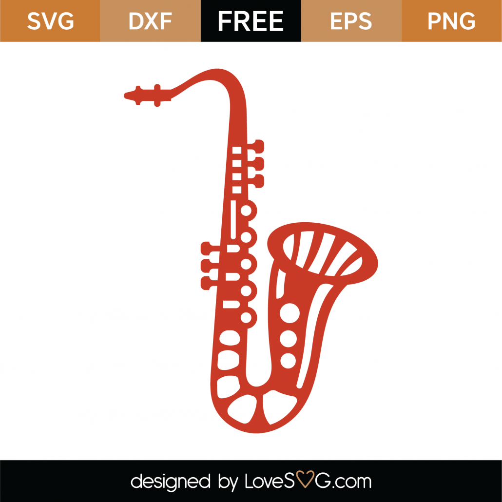 Saxophone SVG Cut File 9303