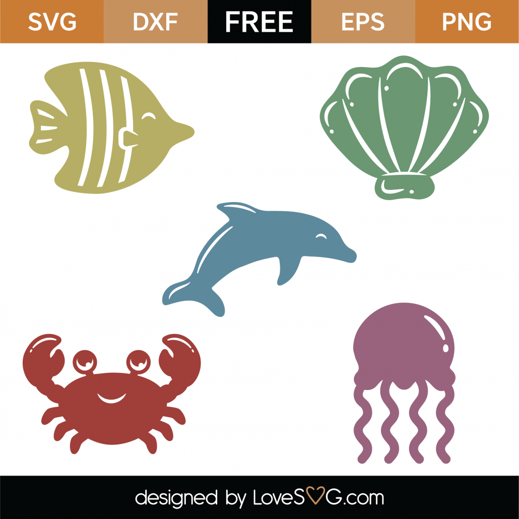 Sea Creatures SVG Cut Files 9313