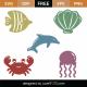 Sea Creatures SVG Cut Files 9313