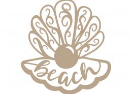 Sea Shell Beach SVG Cut File 9414