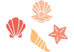 Sea Shells SVG Cut File 9434