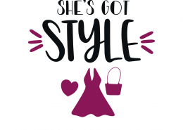 She's Got Style SVG Cut File 9376