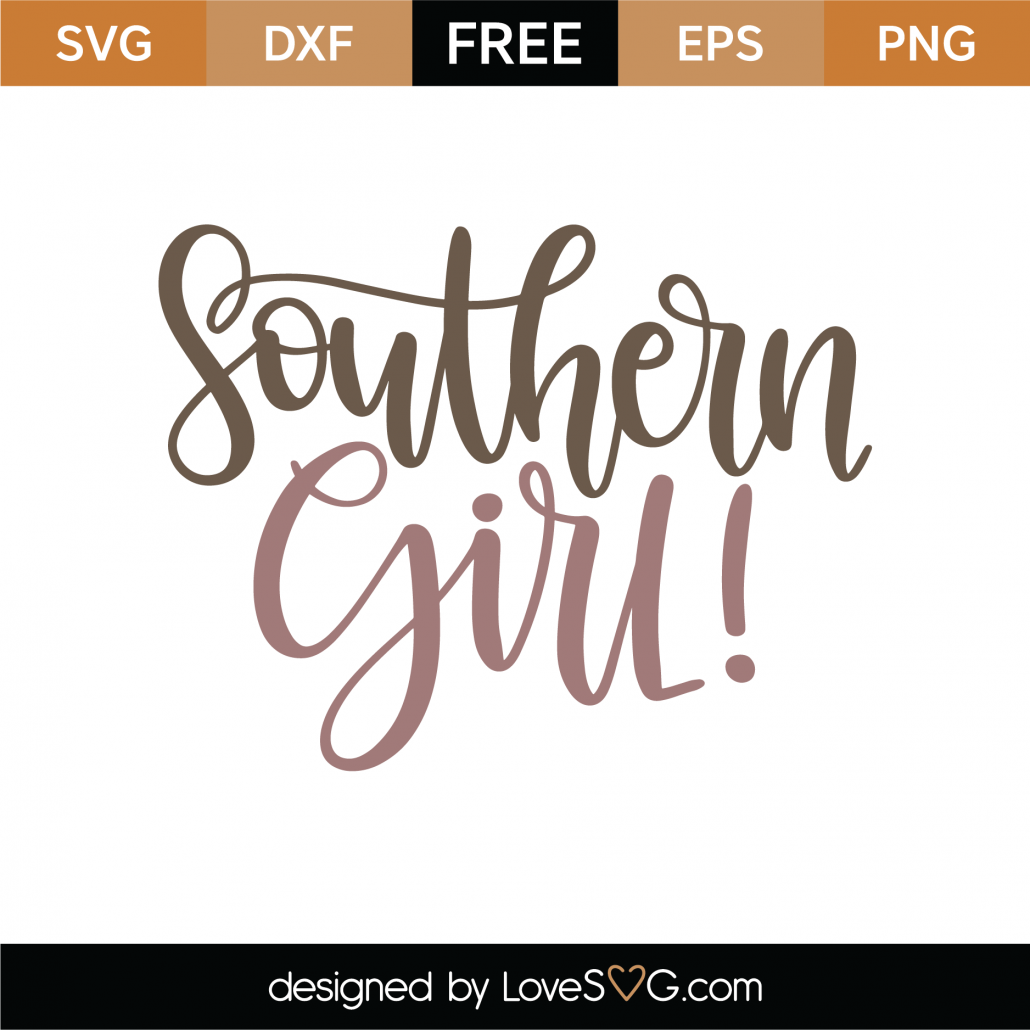 Southern Girl SVG Cut File 9380