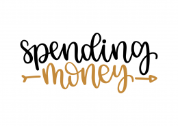 Spending Money SVG Cut File 9279