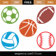 Sport Balls SVG Cut Files 9312
