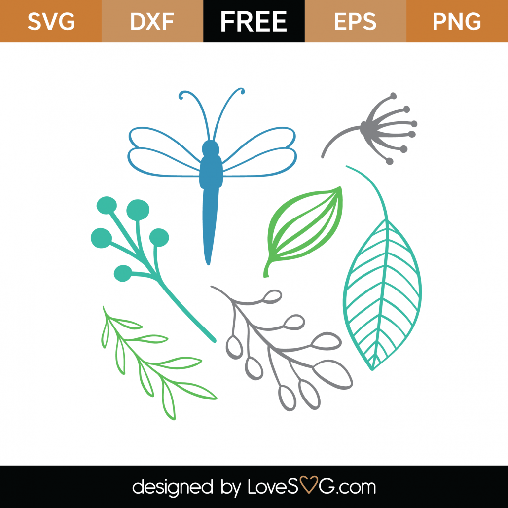 Spring Elements SVG Cut File 9346