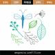 Spring Elements SVG Cut File 9346