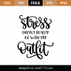 Stress Doesn't Really Go With My Outfit SVG Cut File 9309