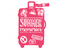 Summer Memories Luggage SVG Cut File 9443