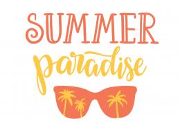 Summer Paradise Shades SVG Cut File 9445