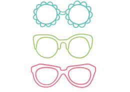 Sunglasses Outline SVG Cut File 9409