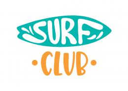 Surf Club SVG Cut File 9450