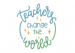 Teachers Change The World SVG Cut File 9295