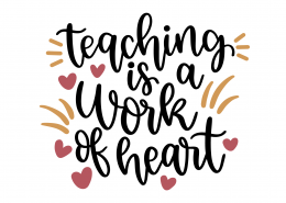 Teaching Is A Work Of Heart SVG Cut File 9288
