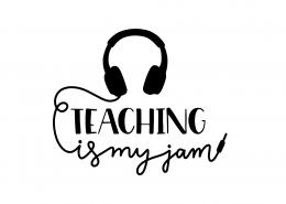 Teaching Is My Jam SVG Cut File 9292